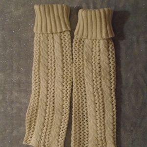 Cream Knit Leg Warmers